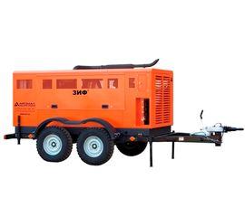 Винтовой дизельный компрессор ЗИФ-ПВ-12/1,2 (ЯМЗ) на прицепеВинтовой дизельный компрессор ЗИФ-ПВ-12/1,2 (ЯМЗ)
