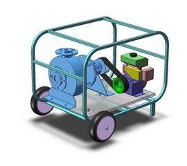 Бензиновая мотопомпа ТАНКЕР-15V (PVDF) для агресивных жидкостей