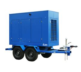 Дизельный генератор ТСС ЭД-12-Т400-1РКМ11 в шумозащитном кожухе на прицепе