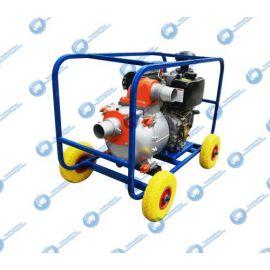 Дизельная мотопомпа ТАНКЕР-100СЗЖ.100 ДТ 13 кВт для сильнозагрязнённой воды