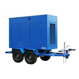 Дизельный генератор ТСС ЭД-100-Т400 в шумозащитном кожухе на прицепе